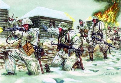 WWII German Infantry in Winter